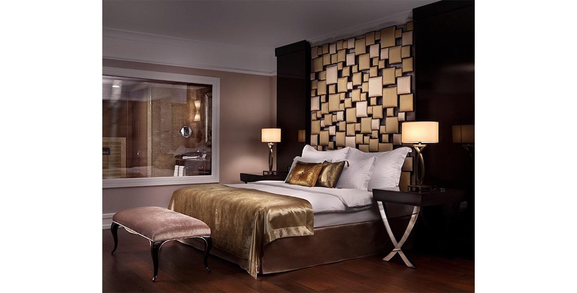 Luxus-Bett-gold